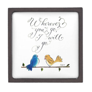 Love birds wherever you go cute typography gift box