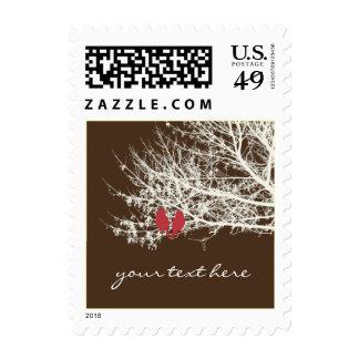 Love Birds, Winter Wedding, Add text Stamps
