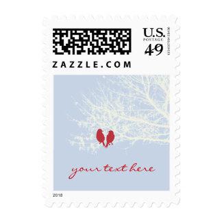 Love Birds Winter Wedding Add text Postage