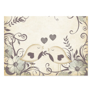 Love Birds (with custom template) Large Business Card