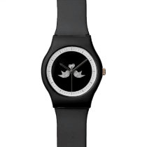 Love Birds with Heart Custom Color Wrist Watch