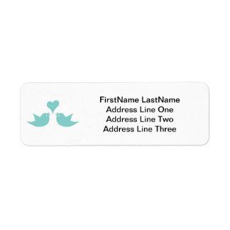 Love Birds with Heart Custom Text Label