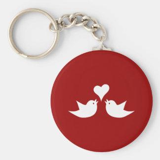 Love Birds with Heart Wedding Enagement Keychain
