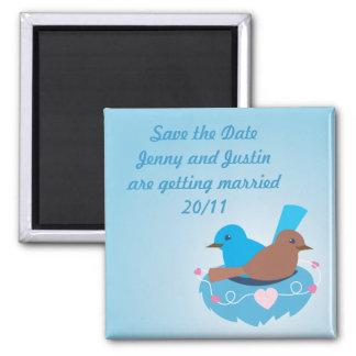 Love Birds wren brown Refrigerator Magnets
