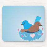 Love Birds wren brown Mouse Pad