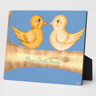 Love Birds (Yellow) Plaque