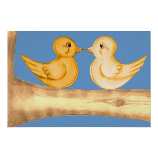 Love Birds (Yellow) Poster