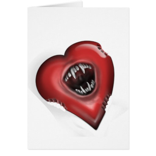 Love Bites back Greeting Card