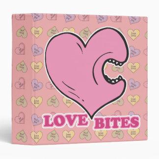 love bites biting heart binders