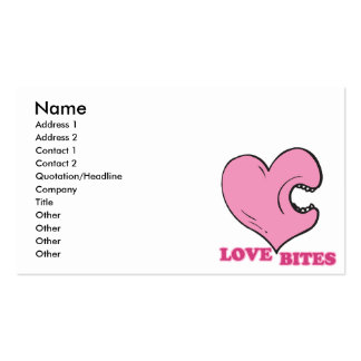 love bites biting heart business card template