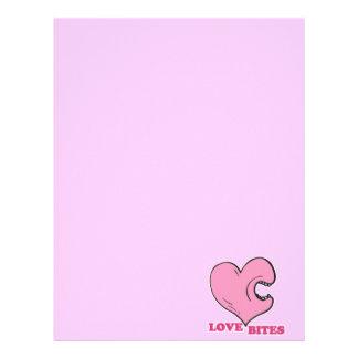 love bites biting heart letterhead