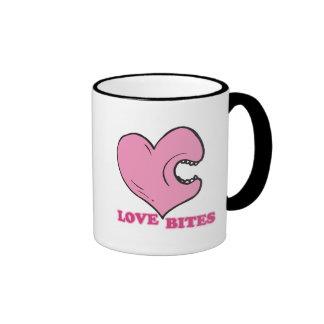 love bites biting heart ringer coffee mug