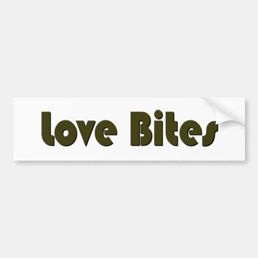 Love Bites Car Bumper Sticker