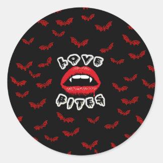 Love Bites Classic Round Sticker