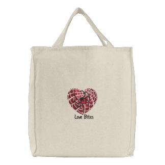 Love Bites Embroidered Tote Bag