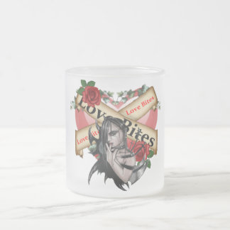 Love Bites - Frosted Glass Mug