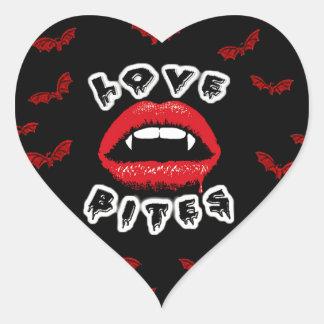 Love Bites Heart Sticker