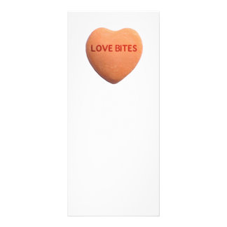 Love Bites Orange Candy Heart Rack Card