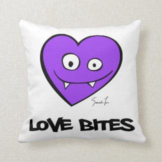 Love Bites Throw Pillows