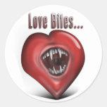 Love Bites Round Sticker