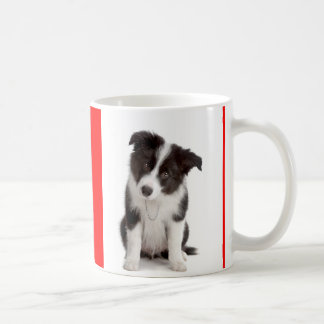 Love Black and White Border Collie Puppy Dog Mug