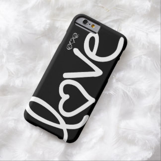 love - black and white barely there iPhone 6 case