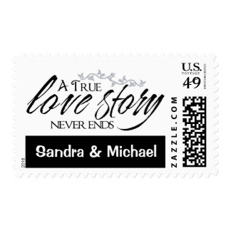 Love Black And White Love Story Wedding Postage