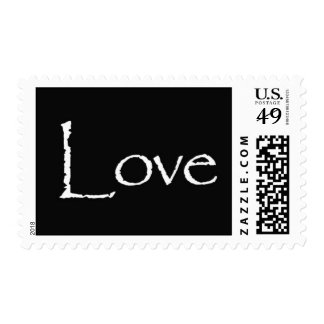 Love - black and white postage