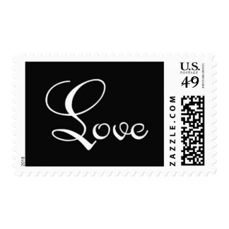 Love - Black and white Stamp