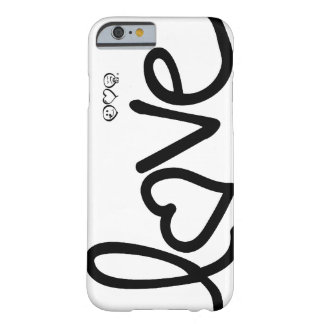 love - black and white typography barely there iPhone 6 case
