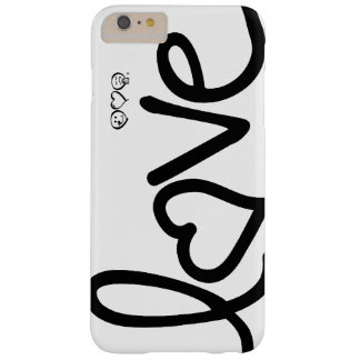 love - black and white typography barely there iPhone 6 plus case