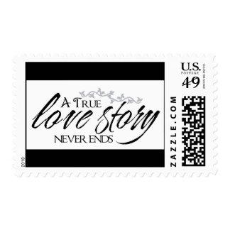 Love Black And White Wedding, Engagement, Bridal Postage