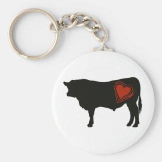 Love Black Angus Beef Keychain