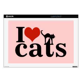 """love black cat decals for 17"""" laptops"""