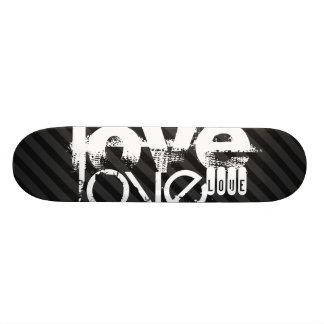 Love; Black & Dark Gray Stripes Skateboard Deck