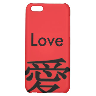 Love Black iPhone 4 Red Love Chinese Character iPhone 5C Case