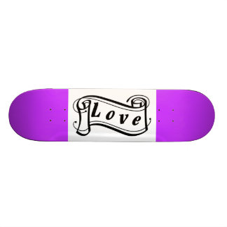 Love black knows scroll Fantasy kind - Skateboard Deck