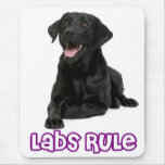 Love Black Labrador Retriever Puppy Dog Mousepad