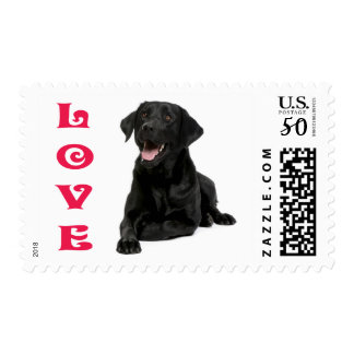 Love Black Labrador Retriever Puppy Dog Postage