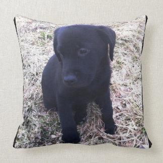 Love Black Labrador Retriever Puppy Throw Pillow