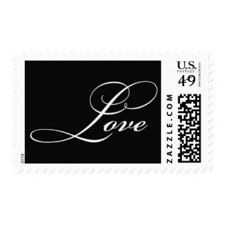 Love (black) postage stamp