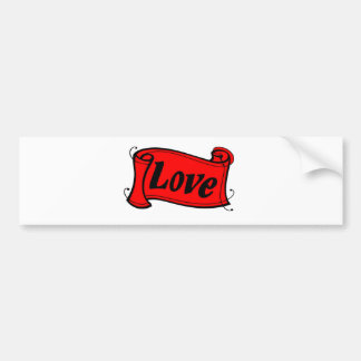 Love black red writing volume FantasyArt - kind De Bumper Sticker