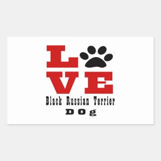 Love Black Russian Terrier Dog Designes Rectangular Sticker