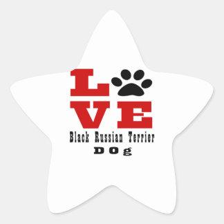 Love Black Russian Terrier Dog Designes Star Sticker