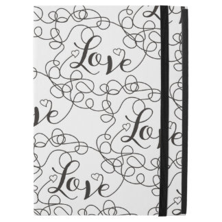 LOVE black seamless pattern with LINES iPad Pro Case