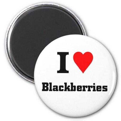 Love blackberries fridge magnets