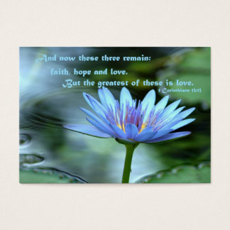 Love - blank back business card