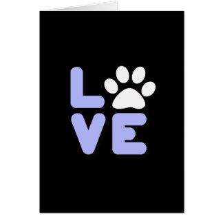 LOVE - Blk/Blu Card