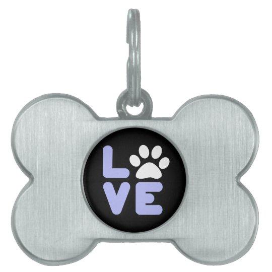 LOVE - Blk/Blu Pet Name Tag