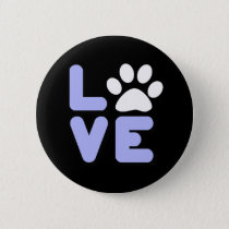 LOVE - Blk/Blu Pinback Button
